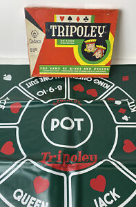 Cadaco TRIPOLEY Deluxe Edition 1965 No 111 Playing Mat and Box