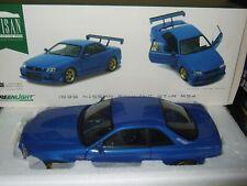 NISSAN SKYLINE GT-R R34 blau 1999 von GREENLIGHT 1:18 NEU & OVP