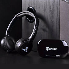 Multifunction Wireless Over-Ear Headband Headphone with FM Radio For TV PC