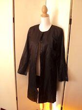 re-launch  black  satin coat nwt