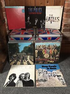 Job Lot Bundle Record Vinyls Lp x45 Classic Prog Rock 80s Beatles Deep Purple