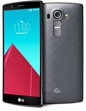 LG G4 H810 AT&T UNLOCKED 4G 32GB 16MP GREAT -Black Brown Leather / Gray Metallic