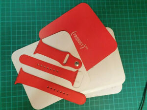GENUINE & ORIGINAL PRODUCT RED APPLE WATCH STRAP BAND 42MM - 3 PARTS  - AS46