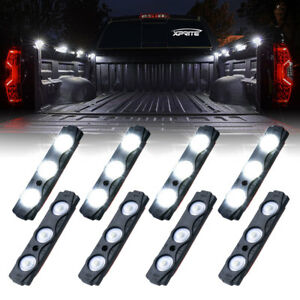 Xprite 8 Pods LED Rock Lights Kit Underglow Neon Truck Bed Deck Lighting System