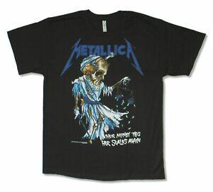 Metallica Doris Pushead Art Mens Black T Shirt New Official NEW