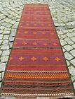 Fabulous Antique 24'' X 85'' Turkoman Tribal Hallway Corridor Runner Kilim Rug