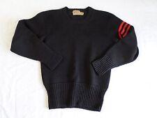 JAMES BRINE true vintage black heavy wool red stripe crewneck sweater MEDIUM