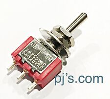 MTS-102 3-Pin Mini SPDT ON OFF ON 3 Position 6A 125VAC Toggle Switch x 2pcs