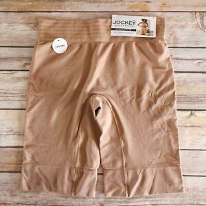 Jockey Generation No-Chafe Cooling Mid Length Smoothing Slip Shorts Small Beige