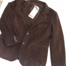 Boys Designer Brown Fitted Cord Jacket Age 6-7. ABC123me New With Tags RRP£95.00