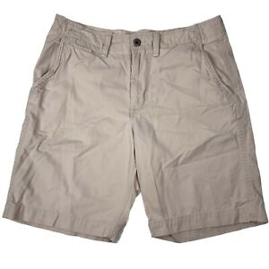 American Eagle Outfitters Mens Flat Front Button Beige Casual Shorts Size 38