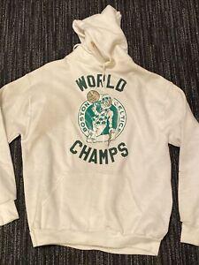 Boston Celtics-1986-World Champions Hoodie size large russell Athletics