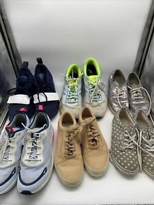 Sneakers Shoes Lot Wholesale Bundle Of 6 Pairs Assorted Nike's, Vans, ASICS