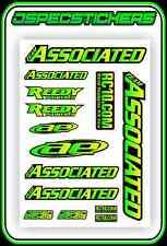 TEAM ASSOCIATED AE REEDY RC10 STICKER SHEET A5 BNIP VINTAGE RC8 B6 TC7 RC CAR XP