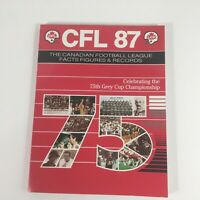 CFL 1987 Canadian Football League Facts Figures Records 75th Grey Cup
