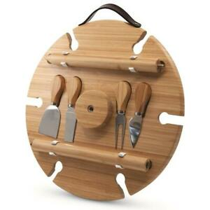 S&P Picnic Circular Wine Tray & Cheese Knives 33.5x1.7cm