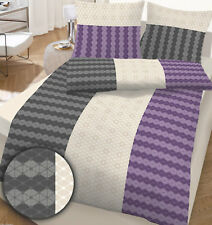 Bettwäsche 200x200 cm Grafik violett 17804 BIBER