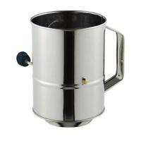 100% Genuine! AVANTI 5 Cup Stainless Steel Crank Handle Flour Sifter! RRP $26.95