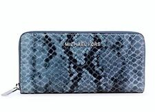 NWT MICHAEL KORS Bedford Continental Python-Embossed Wallet Denim 32H3MBFZ1E #1
