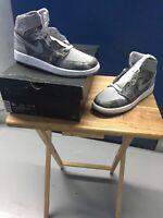 """Air Jordan 1 Retro Hi Prem GG 819664-004 """"All Star"""" """"Cool Grey"""" (2016) Size 9Y"""