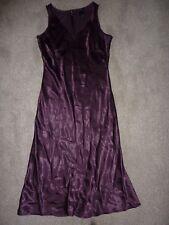 Warehouse size 12 purple sleeveless dress, long