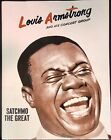 LOUIS ARMSTRONG (Satchmo) Jazz Concert Program Book May 20 1961 South Bend IN