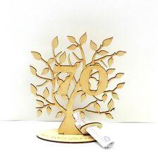Geldgeschenk Geldscheinhalter Baum 70. Geburtstag 16cm Herzlichen Glückwunsch