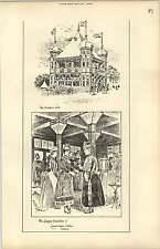 1888, The Glasgow Exhibition, Smokers Kiosk Cigarette Girls