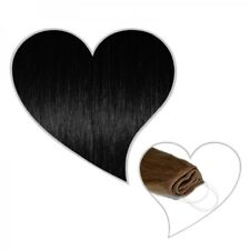 "Easy Flip Extensions Black #01 12"" 70 Gram in 30 Cm Halo Human Hair Secret Wire"