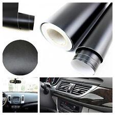 Vehicle Interior 3D Imitation Leather Texture Dashboard Film Vinyl Sticker Black