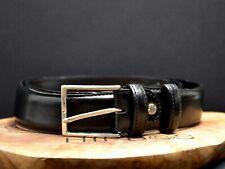 Melluso Classic Italian Mens Leather Belt Black Size 34