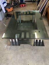 Metal Sculpture Industrial Coffee Table Modern