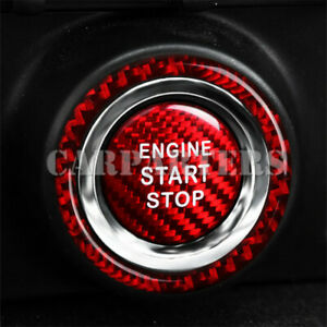 For Toyota 86 GT86 Scion FR-S Red Carbon Fiber Engine Start Stop Button Cover
