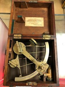 Antique 20th Century Maritime Naval Sextant - George Lee & Son Co