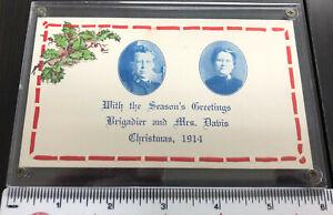 Salvation Army - 1914 Christmas Davis Post Card Plexi Encased