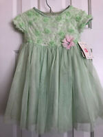 Marmellata Girl's Easter/Special Occasion Dres Size 24 Months Green/Pink NWT