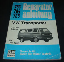 Reparaturanleitung VW Transporter T3 / T 3 / 1,6 / 2,0 Liter ab Juni 1978!