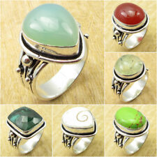 Multi SIZE Multi STONE Ring ! 925 Silver Plated AQUA CHALCEDONY & Other Gemstone