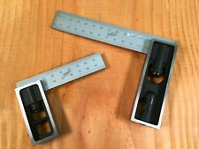 PAIR 150mm & 100mm METRIC ONLY High Precision DOUBLE SQUARE Steel Blade