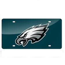 Philadelphia Eagles Green Mirrored Laser Cut License Plate Laser Tag