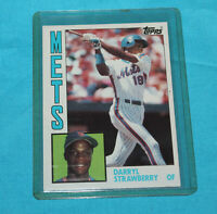 DARRYL STRAWBERRY, NY Mets, '83 ROOKIE Season, '84 Topps #182 Vintage Card