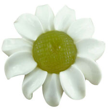 Stone Flower Handcrafted White Agate & Serpentine 30mm (1 pc) Jewelry Making
