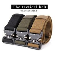 2018 Belt Men's Outdoor Web Belt Military Belt Tactical Training Canvas Buckle