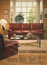 Publicité 1981  Home Contemporain Salon cuir pleine fleur