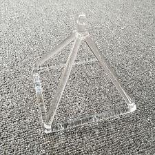 """Optically Clear Quartz Crystal Singing Pyramid 5"""" Crystal Singing Bowl"""