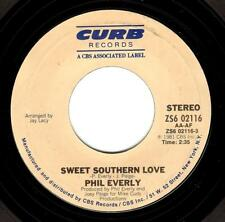 PHIL EVERLY Sweet Southern Love Vinyl Record 7 Inch US Curb ZS6 02116 1981