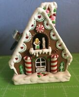 1994 Hallmark Light Motion Sound Ornament Gingerbread Fantasy Tested  Works!!