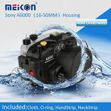 Meikon Underwater Waterproof Housing Case for Sony A6000 Camera 16-50mm Lens