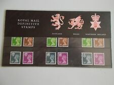 1991 Machin Definitive Regionals (3) 18p to 39p Presentation Pack no 26 Cat £16