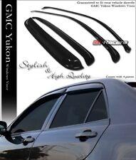FOR 2000-2006 TAHOE/YUKON 4 DOOR SUN/RAIN GUARD SHADE DEFLECTOR WINDOW VISORS 4P